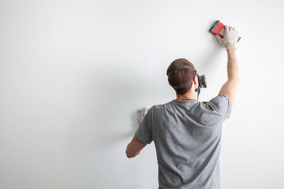 perparing a surface to paint