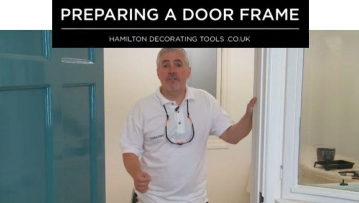 preparing a door frame